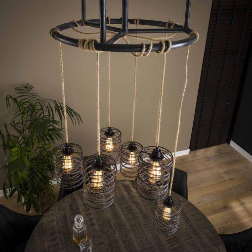 Hanglamp zeven kappen vintage