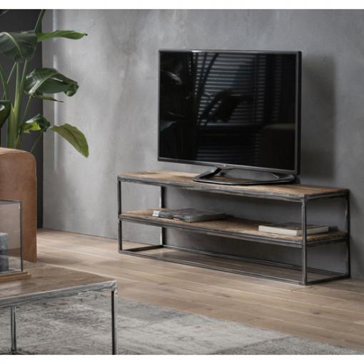 TV meubel oud gebruikt hardhout