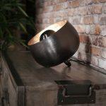 Ronde tafellamp zwart stoer