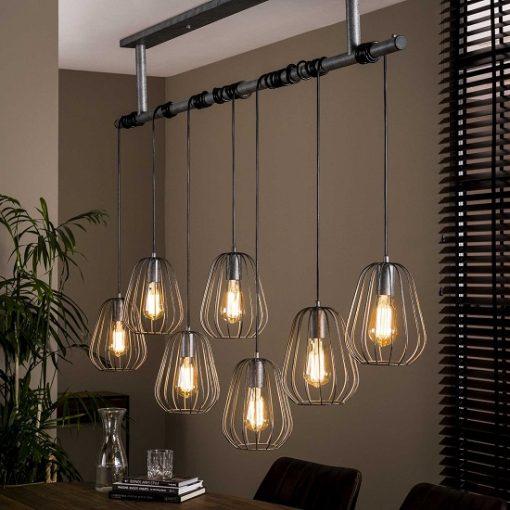 Eettafel Hanglamp zeven kappen