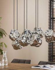 Hanglamp glazen rots kappen