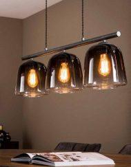 Hanglamp industriële drie kappen