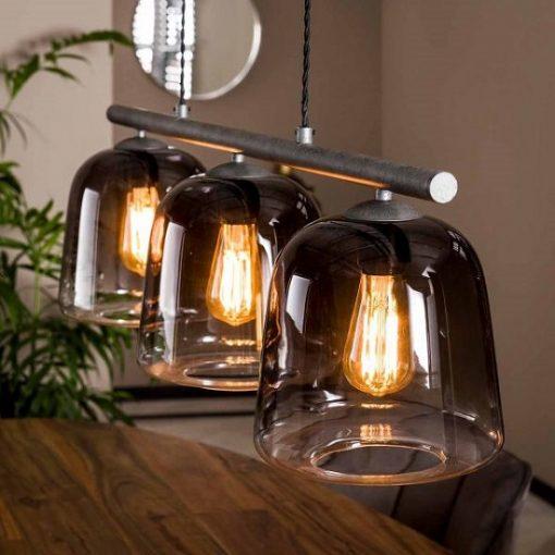 Hanglamp industriële drie kappen led