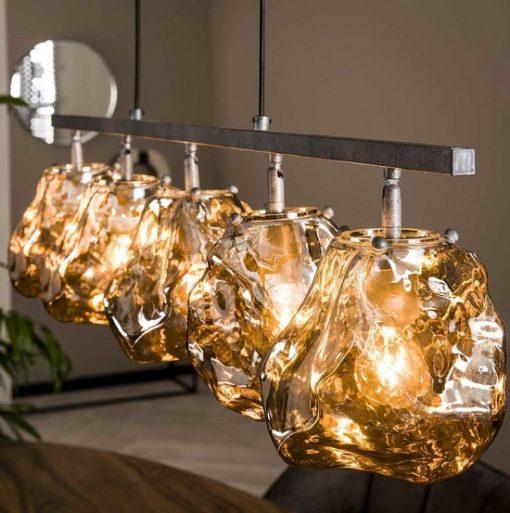 Hanglamp mond geblazen glas industrieel interieur