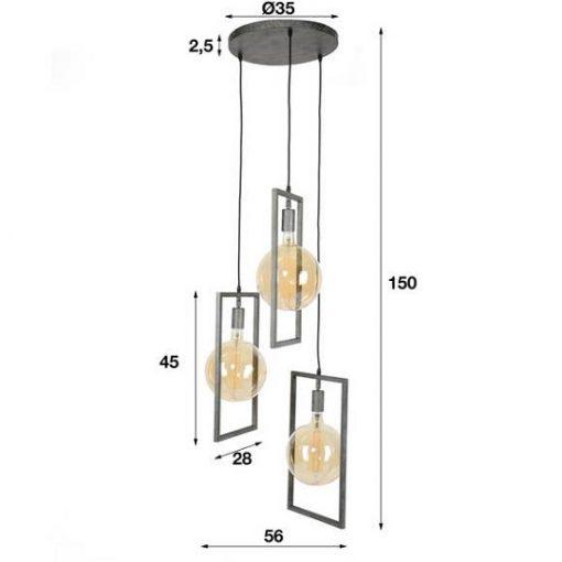 Hanglamp rechthoekige eettafel