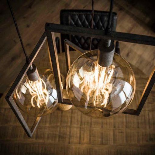 Hanglamp rechthoekige frames grijs