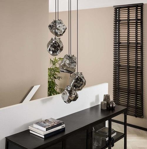 Industriële glazen hanglamp