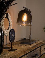 Industriële tafellamp rookglas