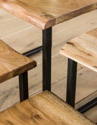 Salontafel acacia set hout