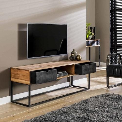 TV meubel twee lade industrieel vintage