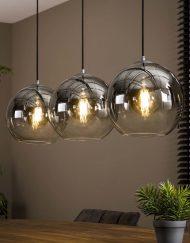 Hanglamp drie glazen bollen
