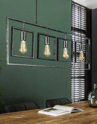 Design hanglamp industrieel vierkant
