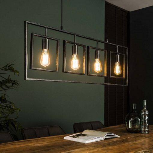 Design hanglamp industrieel vierkanten