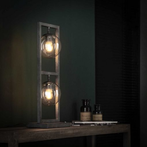 Design tafellamp glas bol