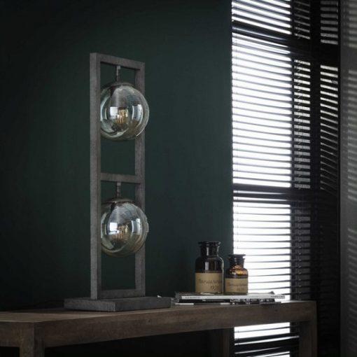 Design tafellamp glas bollen