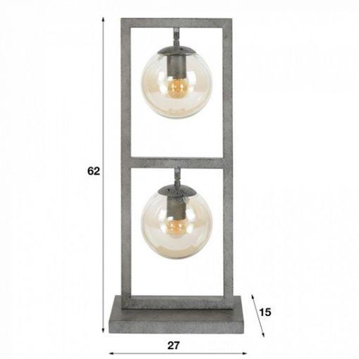 Design tafellamp glas bollen rond