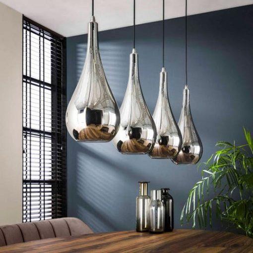 Industrieel hanglamp glas