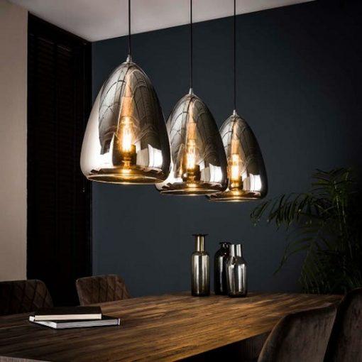 Industrieel hanglamp spiegel glas