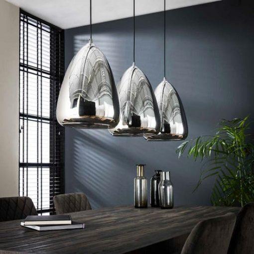 Industrieel hanglamp spiegel sfeer glas