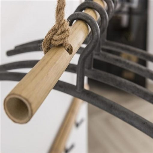 Kapstok zwevend bamboe sfeervol
