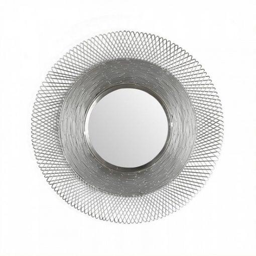 Ronde spiegel groot metaal grijs rand