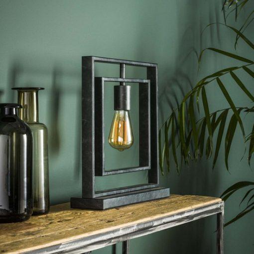 Tafellamp design industrieel grijs
