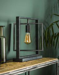 Tafellamp design industrieel vierkant