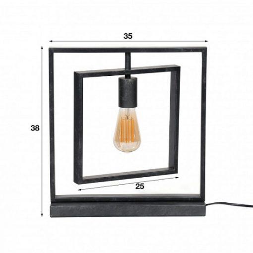 Tafellamp design industrieel vierkanten