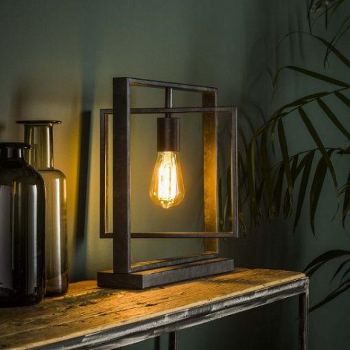 Tafellamp design industrieel zwart