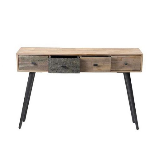 Teakhout sidetable vier lade