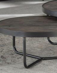 industriële salontafel set grijs metaal