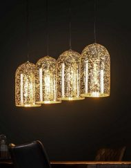 Hanglamp goud metallic