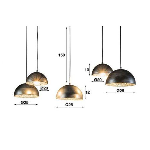 Hanglamp vijf spiegel