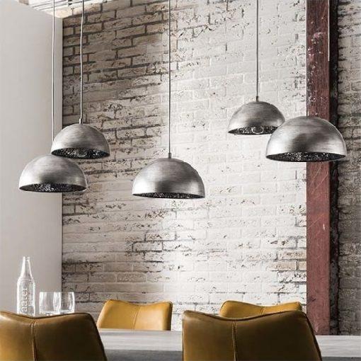 Hanglamp vijf spiegel kappen metalen