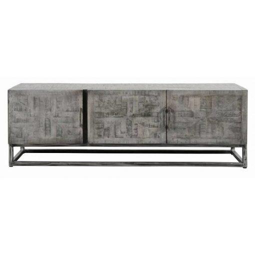 Industrieel tv-meubel grijs