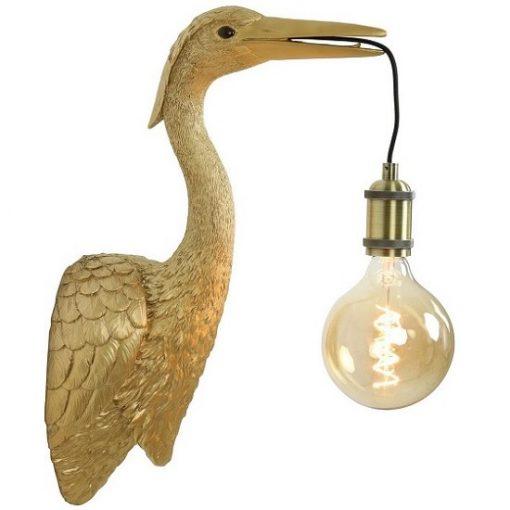 Kraanvogel lamp goud of zwart