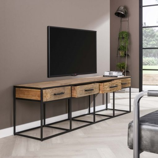 TV-meubel vier laden hout