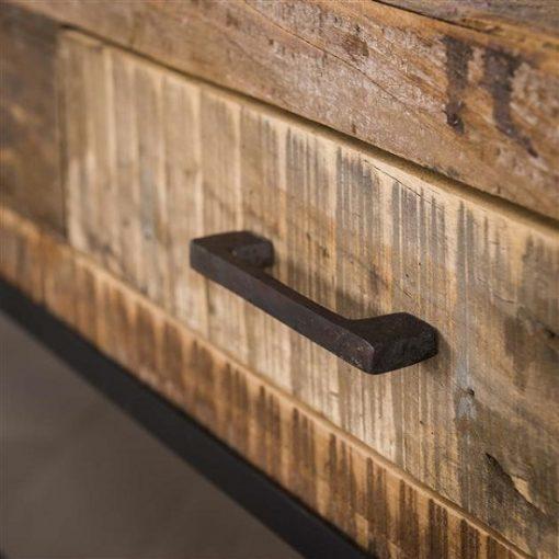 Tv-meubel gerecycled hout metaal