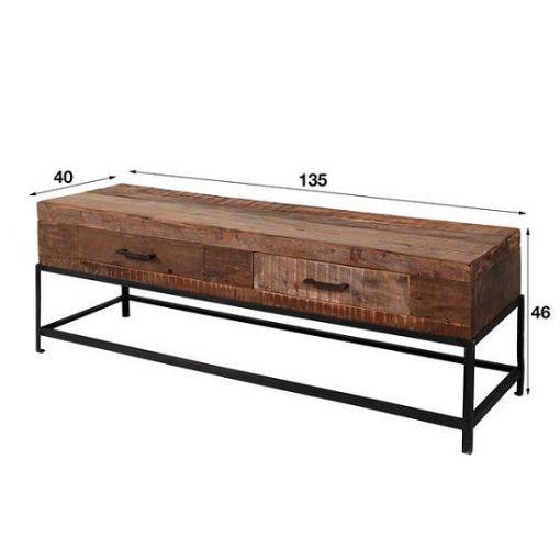 Tv-meubel gerecycled hout natuurlijk