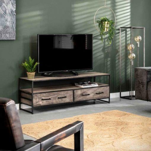 Tv meubel industrieel grijs