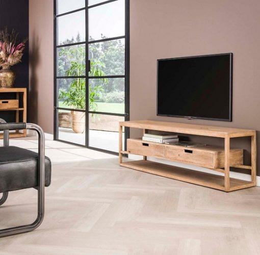 Tv-meubel industrieel sfeervol hout