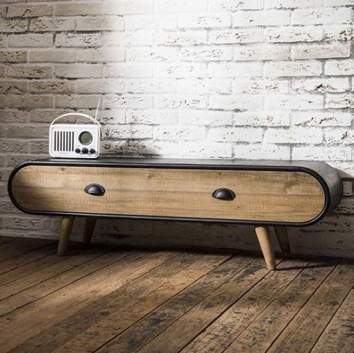 Tv meubel industrieel stoer interieur
